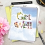 Stylish Get Well Jumbo Greeting Card from NobleWorksCards.com - Bunches of Well Wishes image 6