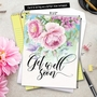 Creative Get Well Jumbo Printed Greeting Card by Batya Sagy from NobleWorksCards.com - Get Well Florals image 6