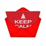 Humorous New Year Printed Card from NobleWorksCards.com - Keep Calm Christmas Be Gone image 2