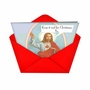 Funny Christmas Printed Card from NobleWorksCards.com - Keep It Real Jesus image 2