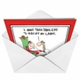 Humorous Christmas Greeting Card by Glenn McCoy from NobleWorksCards.com - Kids Off the Lawn image 2