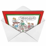 Humorous Christmas Paper Greeting Card by Nicholas Downes from NobleWorksCards.com - Liver and Onion image 2