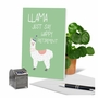 Creative Retirement Greeting Card From NobleWorksCards.com - Llama Just Say image 6