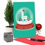 Hilarious Merry Christmas Greeting Card From NobleWorksCards.com - Llama Snowglobe image 5