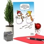 Humorous Merry Christmas Paper Card By Maria Scrivan From NobleWorksCards.com - Longer Sticks image 6