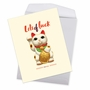 Funny Good Luck Jumbo Paper Greeting Card By Offensive+Delightful From NobleWorksCards.com - Lots of Luck image 3