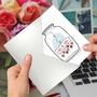 Stylish Valentine's Day Paper Card From NobleWorksCards.com - Love Jar image 3