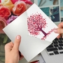 Creative Valentine's Day Printed Card From NobleWorksCards.com - Love Trees image 3