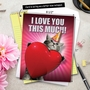 Funny Blank Jumbo Printed Greeting Card from NobleWorksCards.com - Love You This Much Cat image 6