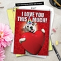 Hilarious Blank Jumbo Printed Greeting Card from NobleWorksCards.com - Love You This Much Dog image 6