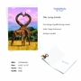 Creative Anniversary Printed Greeting Card From NobleWorksCards.com - Loving Animals image 2