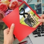 Artful Valentine's Day Greeting Card From NobleWorksCards.com - Loving Animals - Cats image 2