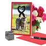 Artful Valentine's Day Greeting Card From NobleWorksCards.com - Loving Animals - Cats image 5