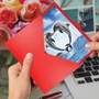 Beautiful Valentine's Day Paper Card From NobleWorksCards.com - Loving Animals - Dolphins image 2