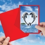 Beautiful Valentine's Day Paper Card From NobleWorksCards.com - Loving Animals - Dolphins image 3