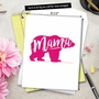 Creative Mother's Day Jumbo Printed Greeting Card From NobleWorksCards.com - Mama Bear image 6