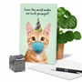 Humorous Birthday Paper Greeting Card From NobleWorksCards.com - Masked Cats - Orange Tabby image 5