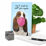 Hysterical Miss You Greeting Card From NobleWorksCards.com - Masked Dogs - Beagle image 5