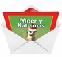 Hilarious Christmas Printed Greeting Card from NobleWorksCards.com - Meery Katsmas image 2