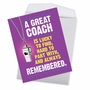 Hilarious Thank You Jumbo Printed Greeting Card From NobleWorksCards.com - Memorable Coach image 3