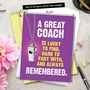 Hilarious Thank You Jumbo Printed Greeting Card From NobleWorksCards.com - Memorable Coach image 6