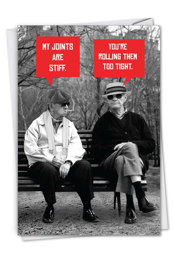 Men Stiff Joints Funny Birthday Paper Greeting Card