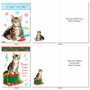 Funny Merry Christmas Card By Kelly Richardson From NobleWorksCards.com - Meowy Holidays image 2