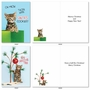 Funny Merry Christmas Card By Kelly Richardson From NobleWorksCards.com - Meowy Holidays image 4