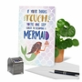 Hilarious Birthday Greeting Card From NobleWorksCards.com - Mermaid Thighs image 6