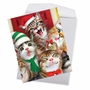 Stylish Merry Christmas Jumbo Card By Howard Robinson From NobleWorksCards.com - Merry Christmas to Zoo - Cats image 2