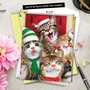 Stylish Merry Christmas Jumbo Card By Howard Robinson From NobleWorksCards.com - Merry Christmas to Zoo - Cats image 6