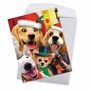 Creative Merry Christmas Jumbo Printed Greeting Card By Howard Robinson From NobleWorksCards.com - Merry Christmas to Zoo - Dogs image 2