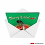 Humorous Christmas Printed Greeting Card from NobleWorksCards.com - Merry Kiss My Ass image 2