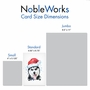Stylish Merry Christmas Paper Greeting Card From NobleWorksCards.com - Merry Mutts - Husky image 5