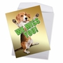 Stylish Miss You Jumbo Paper Greeting Card From NobleWorksCards.com - Miss YouThis Much Dog image 2