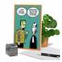 Funny Halloween Paper Greeting Card By Scott Nickel From NobleWorksCards.com - Monster Followers image 5