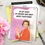 Humorous Mother's Day Jumbo Printed Card by Ephemera from NobleWorksCards.com - Mother Was Right image 6