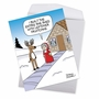 Hysterical Merry Christmas Jumbo Printed Greeting Card By Maria Scrivan From NobleWorksCards.com - Mrs. Claus' She Shed image 2