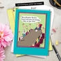 Funny Retirement Jumbo Printed Greeting Card by Glenn McCoy from NobleWorksCards.com - Musical Chairs image 6