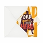 Hysterical Father's Day Printed Greeting Card By Offensive+Delightful From NobleWorksCards.com - My Hero image 2