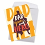 Humorous Father's Day Jumbo Paper Greeting Card By Offensive+Delightful From NobleWorksCards.com - My Hero image 2