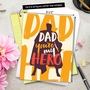 Humorous Father's Day Jumbo Paper Greeting Card By Offensive+Delightful From NobleWorksCards.com - My Hero image 6