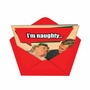 Funny Christmas Greeting Card from NobleWorksCards.com - Naughty In Nice Way image 2