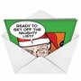 Hilarious Christmas Printed Greeting Card by John Lustig from NobleWorksCards.com - Naughty List image 2