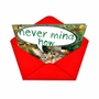 Humorous Christmas Paper Greeting Card from NobleWorksCards.com - Never Mind How, Just Get image 2