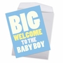 Funny Baby Jumbo Paper Card From NobleWorksCards.com - New Baby Boy image 2