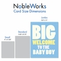 Funny Baby Jumbo Paper Card From NobleWorksCards.com - New Baby Boy image 4