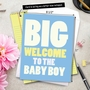 Funny Baby Jumbo Paper Card From NobleWorksCards.com - New Baby Boy image 6