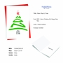 Creative Merry Christmas Greeting Card From NobleWorksCards.com - New Year's Tree - 2021 image 2