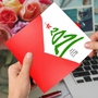 Creative Merry Christmas Greeting Card From NobleWorksCards.com - New Year's Tree - 2021 image 3